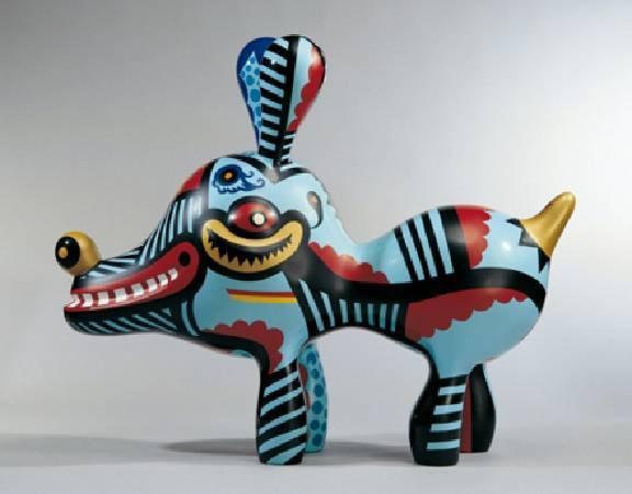 洪易 大狗 鐵製烤漆 160x120x60cm 2008