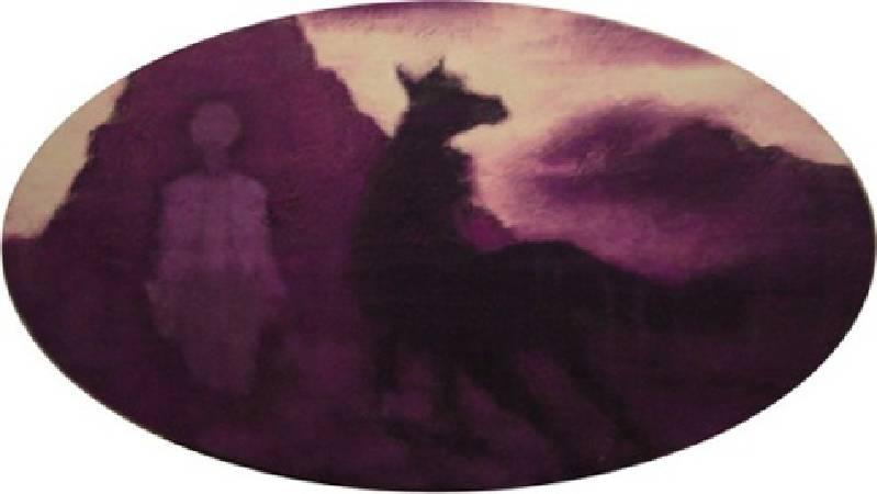 張志成 夢境四-紫色 99.5x180cm 2009
