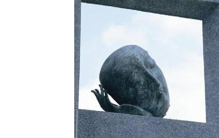 李光裕 凝 銅雕 180x120x150cm 1994