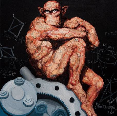 人的寓言-工業革命-油畫-100x100cm-2009