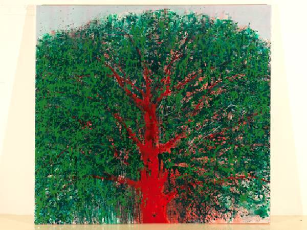 毛旭輝-紅樹-油彩/畫布-195 x 210cm 2010