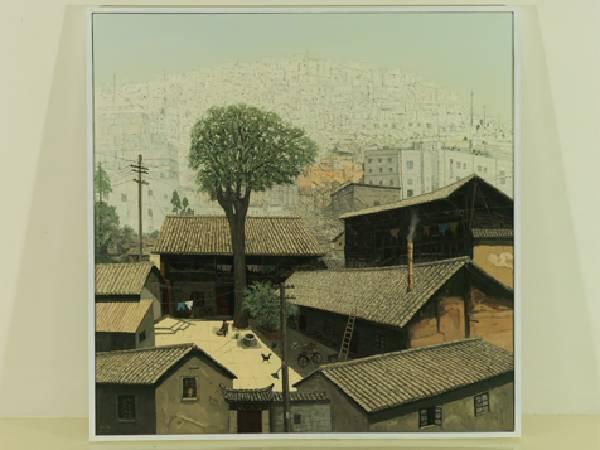 金志強-昆明老宅-油彩/畫布-160 x 160cm 2010