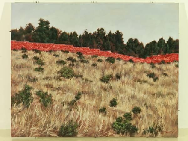 胡曉鋼-紅牆 (2)-油彩/畫布-130 x 162cm 2010