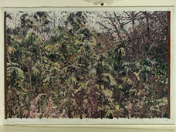 荀貴品-秋天的大麻林 -油彩/畫布-200 x 300cm 2010