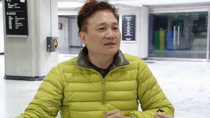 藝術家工會理事長曹育維討論會後,對台灣館結果定案發表看法。