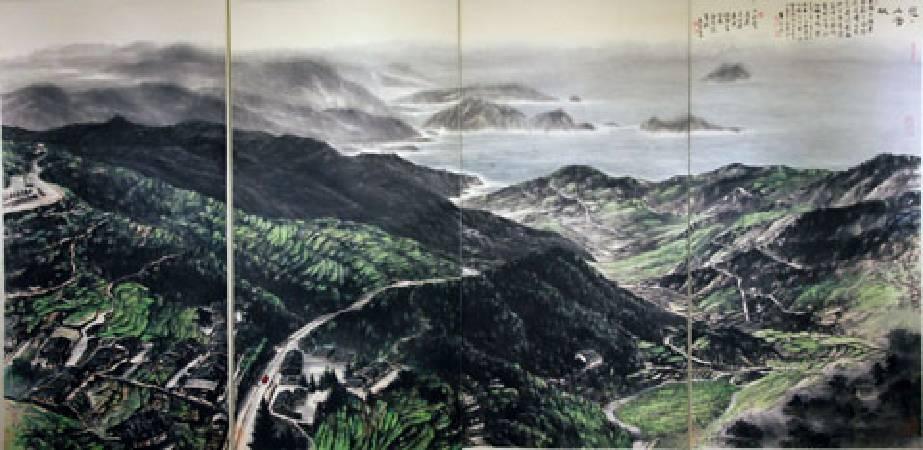 黃永川《戀戀山海城》。圖/非池中藝術網攝。