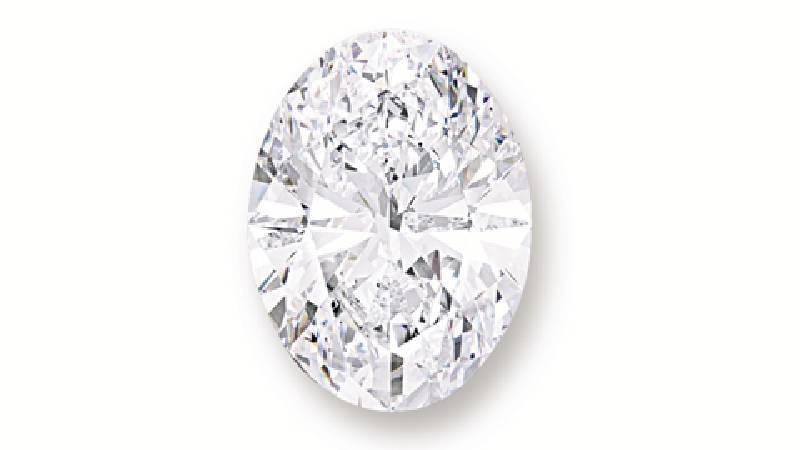 橢圓形鑽石重118.28卡拉,D 色無瑕。圖/擷取自蘇富比官網。