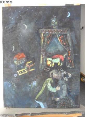 Marc Chagall,《Allegorical scene》