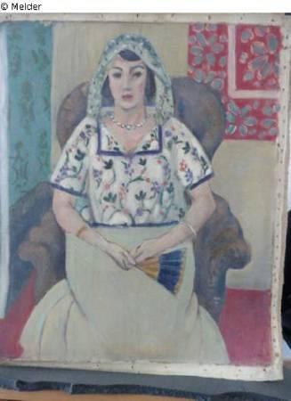Henri Matisse,《Seated Woman》。