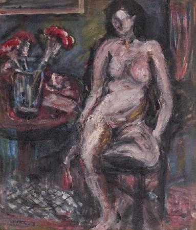 張萬傳,《裸女與靜物》。
