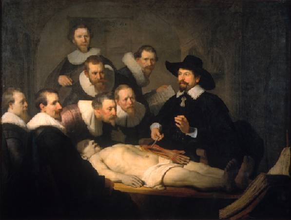 Rembrandt,《The anatomy lesson of Dr Nicolaes Tulp》