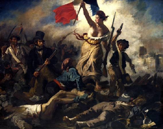 Delacroix,《Liberty Leading the People》。
