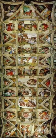 米開朗基羅,〈創世紀〉。