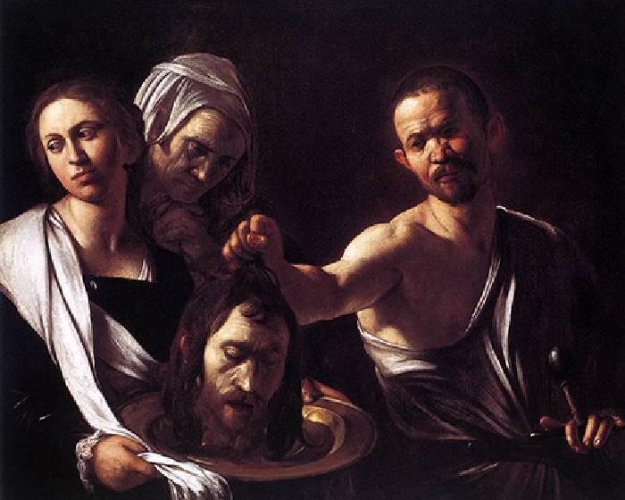 卡拉瓦喬,莎樂美接收施洗者約翰的頭 【看Youtube學藝術系列】
