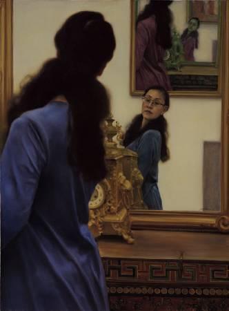 龐茂琨,〈鏡花緣之一〉。