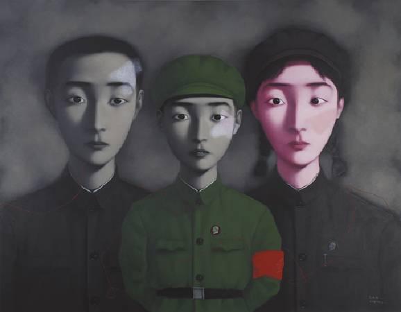 張曉剛《血緣:大家庭3號》.1995年。