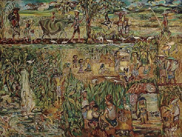 蘇加那.克爾頓《我的家園》.1981 年。
