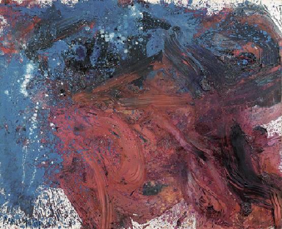 白髮一雄《地退星翻江蜃》.1960年。