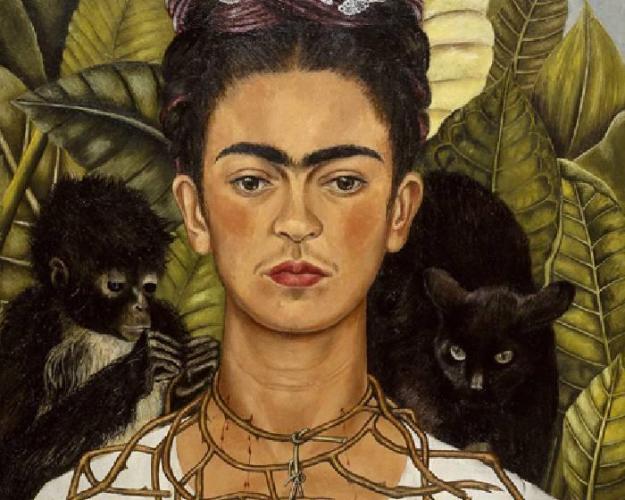 芙烈達‧卡蘿,卡蘿戴荊棘和蜂鳥項鍊的自畫像 【看Youtube 學藝術系列】