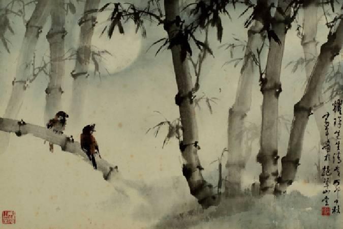 歐豪年,〈望月和鳴〉。