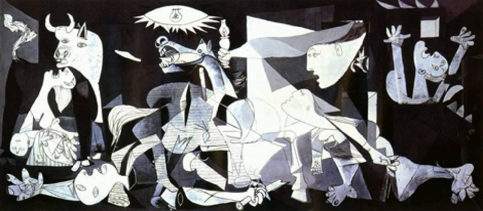 畢卡索,《Guernica》。圖/擷取自網路。