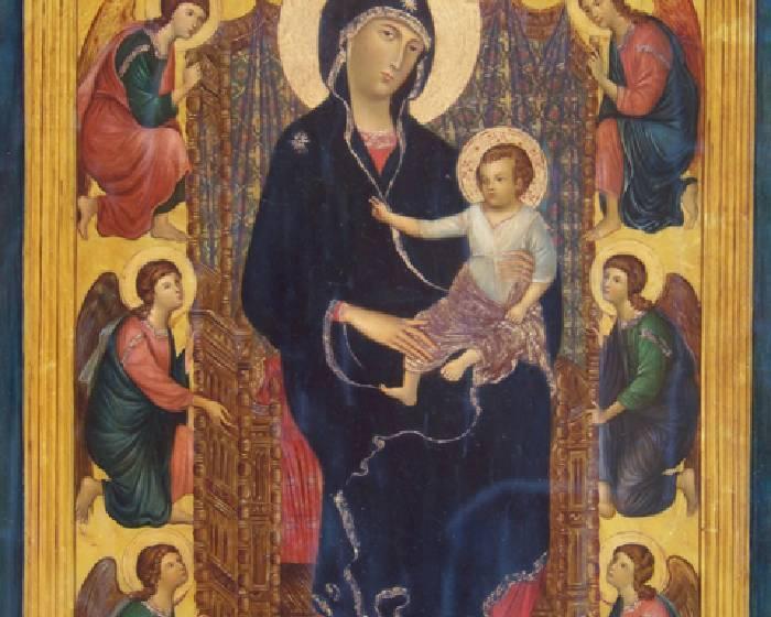 杜奇歐,端坐寶座的聖母與聖嬰及六位天使【看Youtube學藝術系列】
