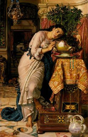 William Holman Hun,《Isabella and the Pot of Basil》