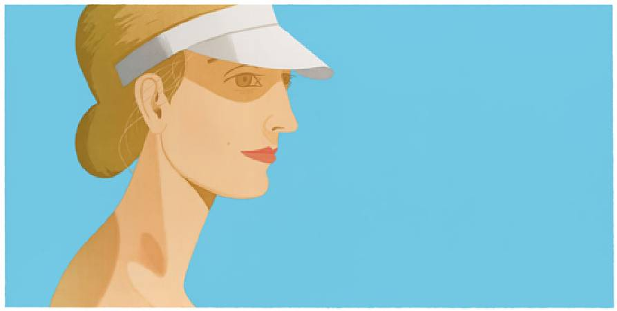 Alex Katz,《White Visor》。
