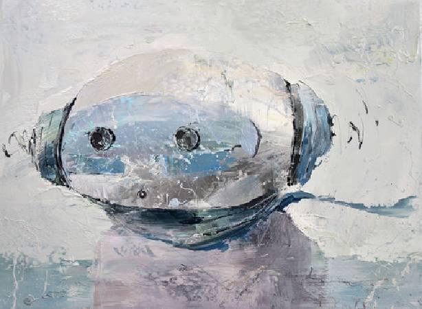 《飛行員》,油彩、畫布 2011。