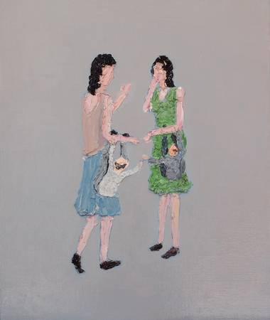 《當老王遇見老吳 When Mr. Wang》, 油彩、畫布 2011。