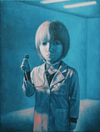 《回聲》,  油彩、畫布 2011。