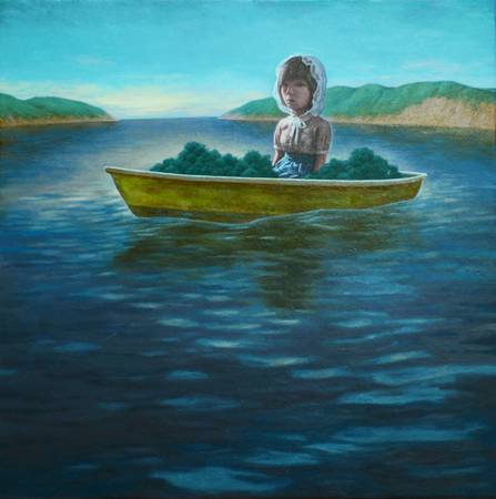 《Yellow boat》,  油彩、畫布 2011。