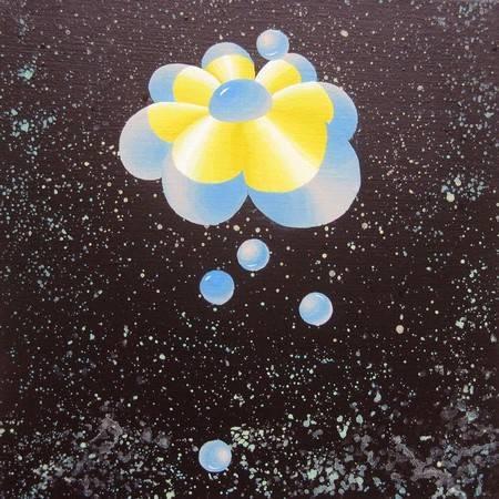 《宇宙飛行》, 壓克力彩 2011。