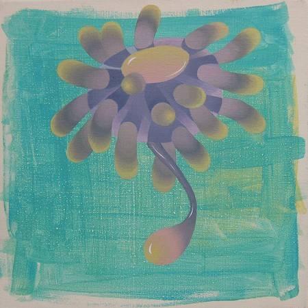 《漂浮的歌聲》, 壓克力彩 2011。