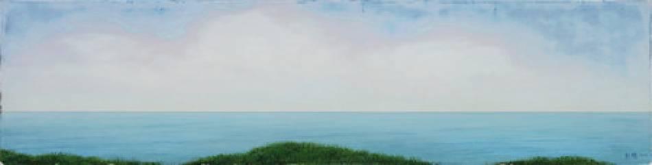 《邊緣‧輪廓 39》,  複合媒材 、畫布 2011。