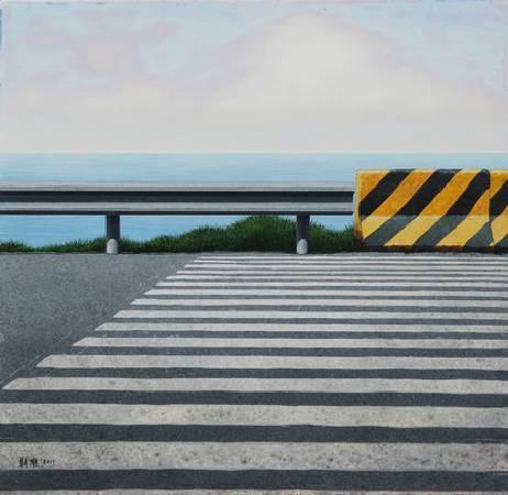 《邊緣‧輪廓 44》,  複合媒材 、畫布 2011。