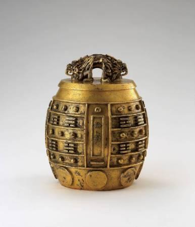 清康熙御制鎏金銅交龍鈕八卦紋「無射」編鐘。