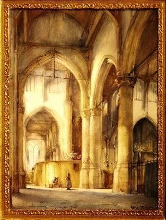 《聖勞倫斯科克》Meegeren在大學時,藝術競賽所得獎的作品。圖/擷取自the MEEGEREN website。