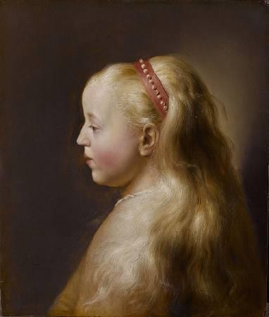 列文斯《少女輪廓》(Young Girl in Profile),1629-1630。