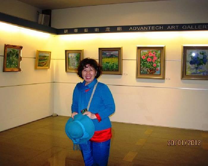 宣誠藝術中心王美幸【今日、昨日】30年經典原作油畫、粉彩、玻璃創作【】