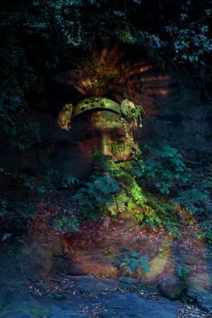 瓦歷斯‧拉拜,《與靈對話》。圖/台北當代藝術館提供。