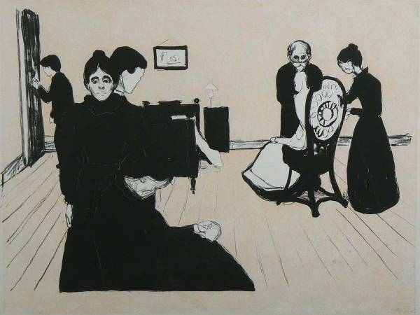 《病房中的死亡》(Death in the Sickroom), 1896。