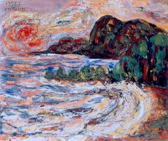 《花蓮海岸》,1972。