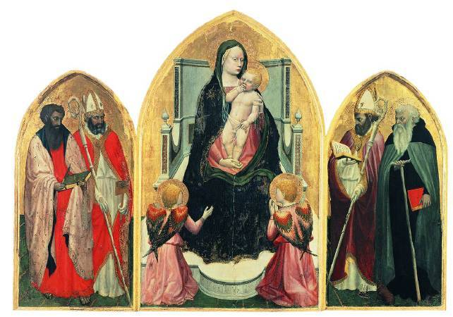 《卡西亞聖壇三連畫》(San Giovenale Triptych), 1422