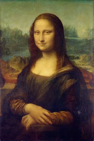 達文西《蒙娜麗莎的微笑》,收藏於羅浮宮。圖/取自英文維基百科。