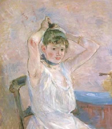 莫莉索《沐浴》(The Bath),1886。