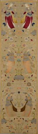 伊斯蘭藝術博物館館藏17世紀織品。圖/取自wikipedia commons