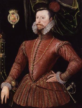 達德利肖像畫,1575年由英格蘭不知名畫家繪製。圖/取自National Portrait Gallery。