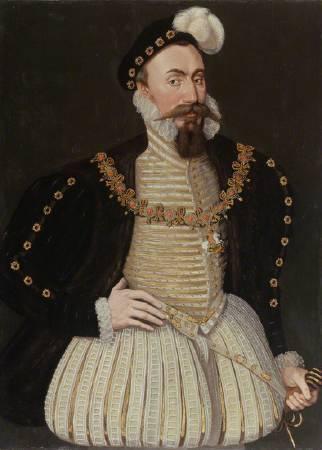 達德利肖像畫,1575年由尼德蘭不知名畫家繪製。圖/取自National Portrait Gallery。