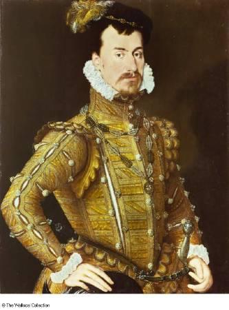 達德利肖像畫,1564年繪製。圖/取自The Wallace Collection。